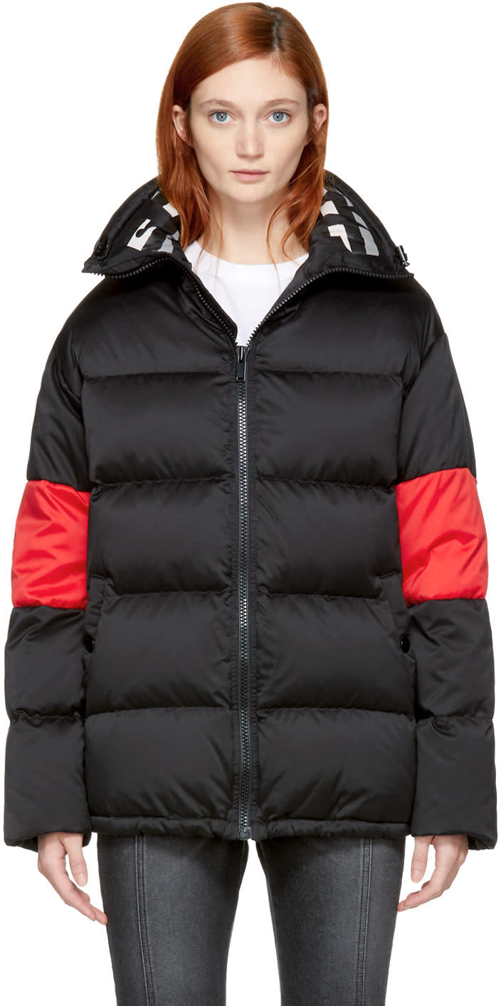 Image of Sjyp Black Down Puffer Jacket