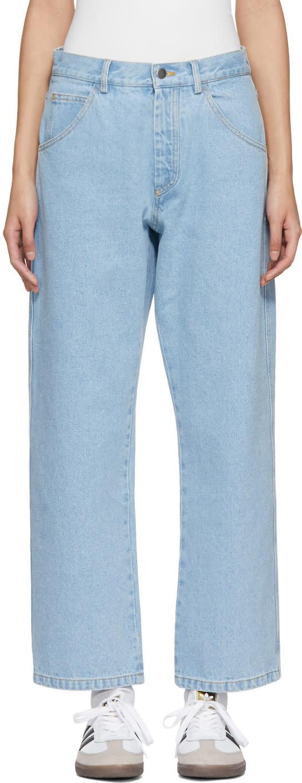Image of Gosha Rubchinskiy Blue Bleached Jeans