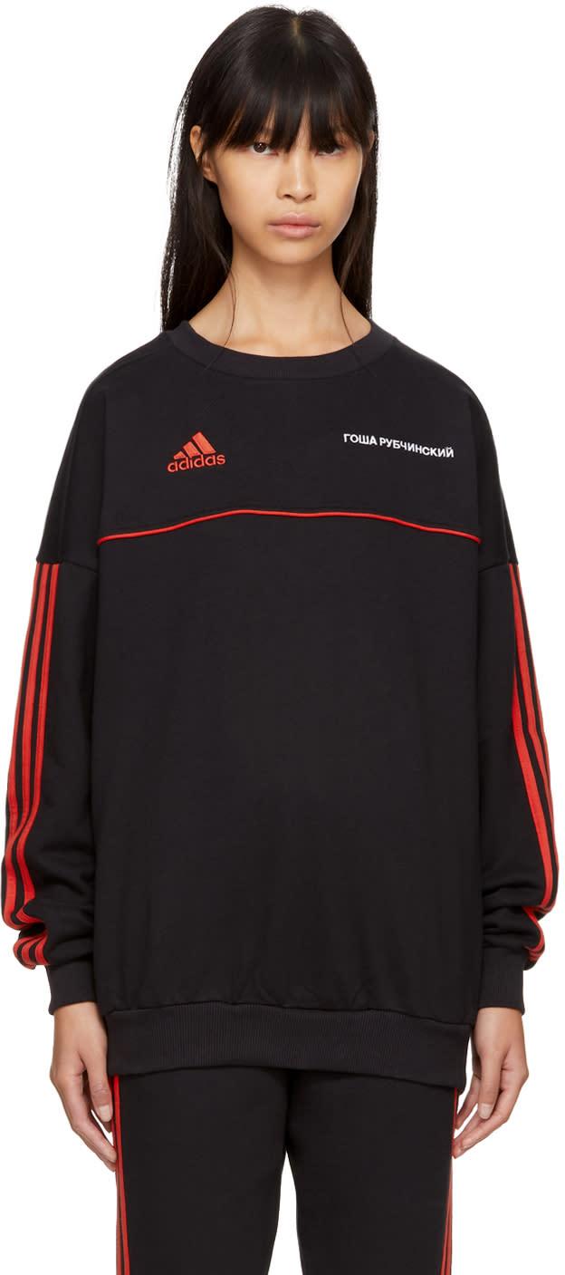 Image of Gosha Rubchinskiy Black Adidas Originals Edition Logo Sweatshirt