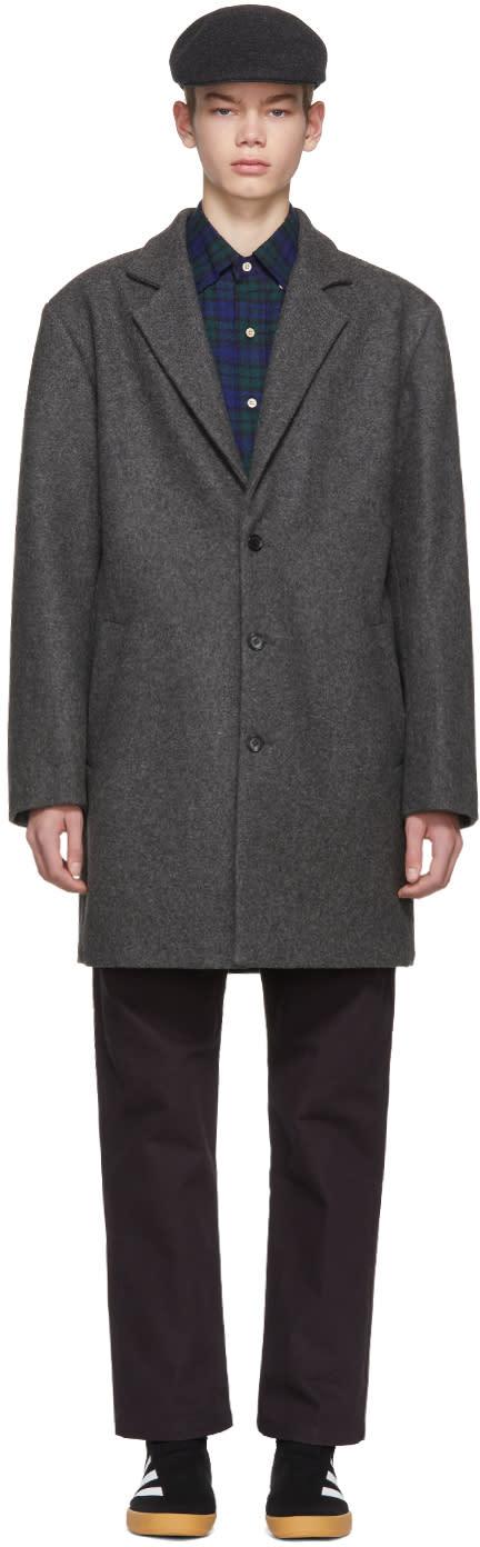 Gosha Rubchinskiy グレー ウール コート