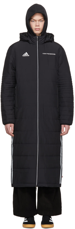 Image of Gosha Rubchinskiy Black Adidas Originals Edition Wind Coat
