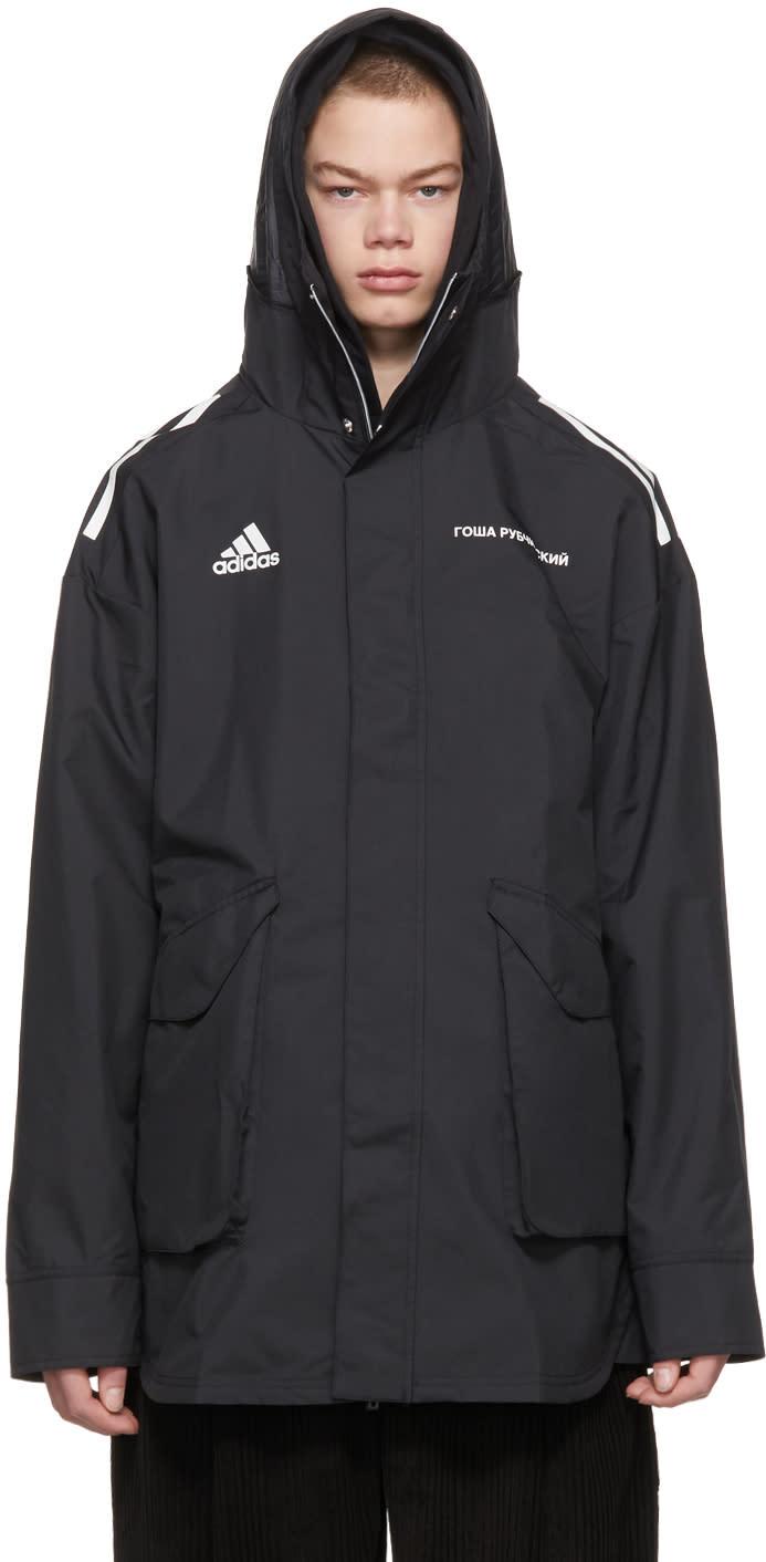 Image of Gosha Rubchinskiy Black Adidas Originals Edition Hardshell Jacket