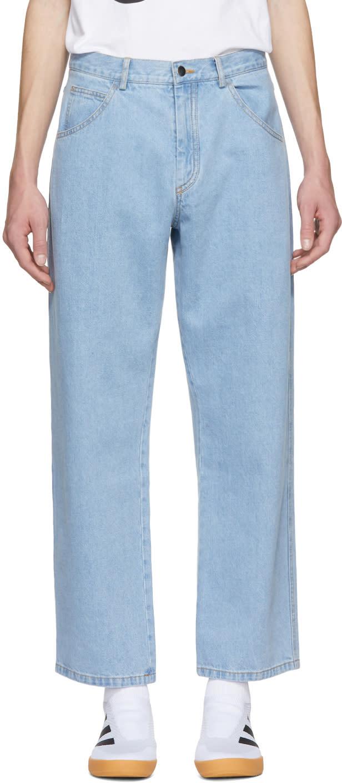 Image of Gosha Rubchinskiy Blue Wide Jeans