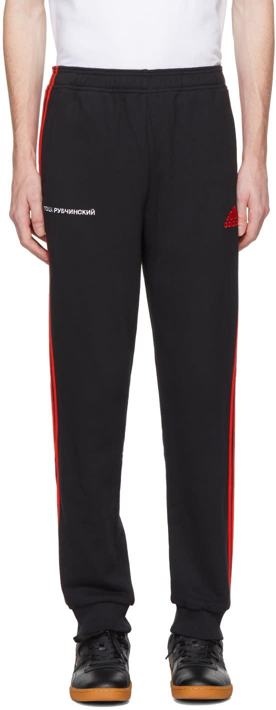 Image of Gosha Rubchinskiy Black Adidas Originals Edition Logo Lounge Pants