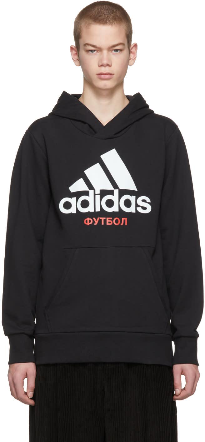 Image of Gosha Rubchinskiy Black Adidas Originals Edition Hoodie