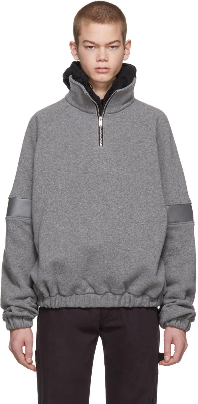 Gosha Rubchinskiy グレー ウール ジップアップ セーター