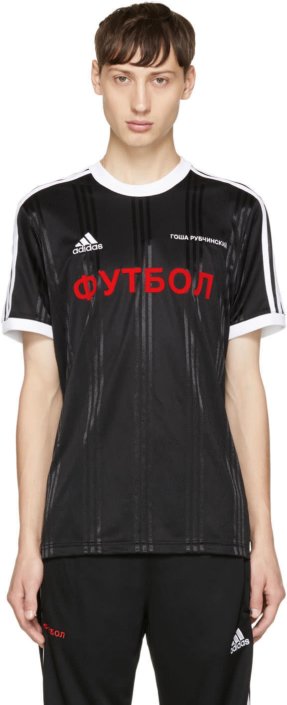 Image of Gosha Rubchinskiy Black Adidas Originals Edition T-shirt