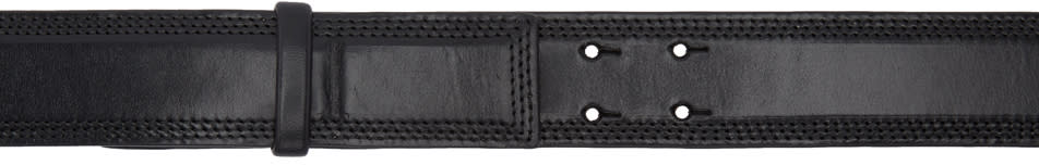 Image of Lemaire Black Large Leather Belt