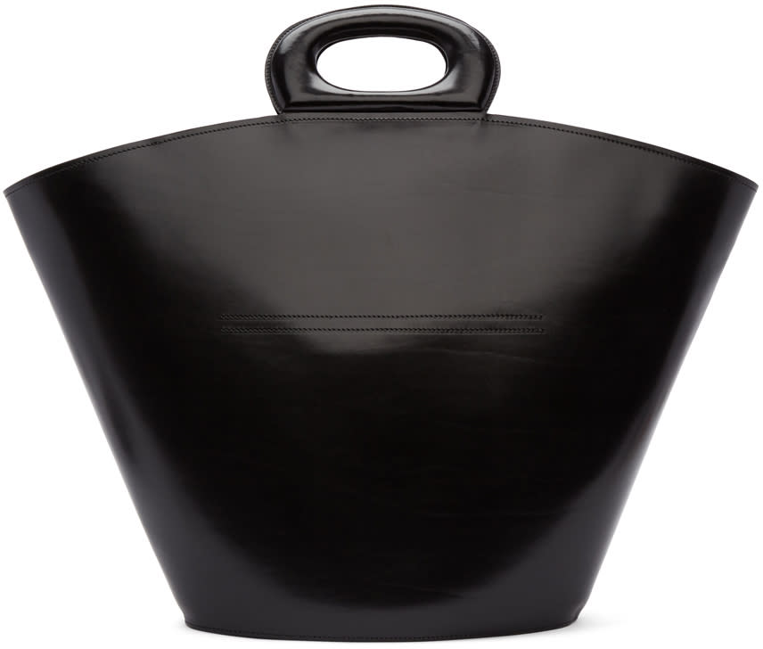Image of Lemaire Black Basket Tote
