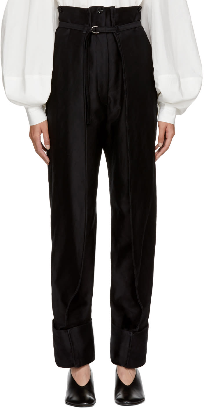 Image of Lemaire Black Cargo Trousers