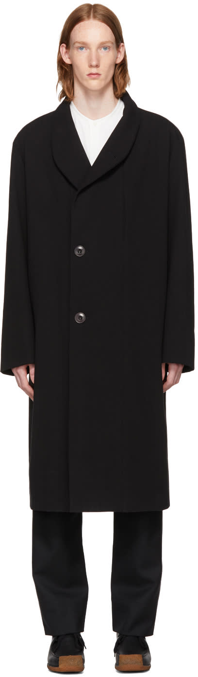 Image of Lemaire Black Kaftan Coat