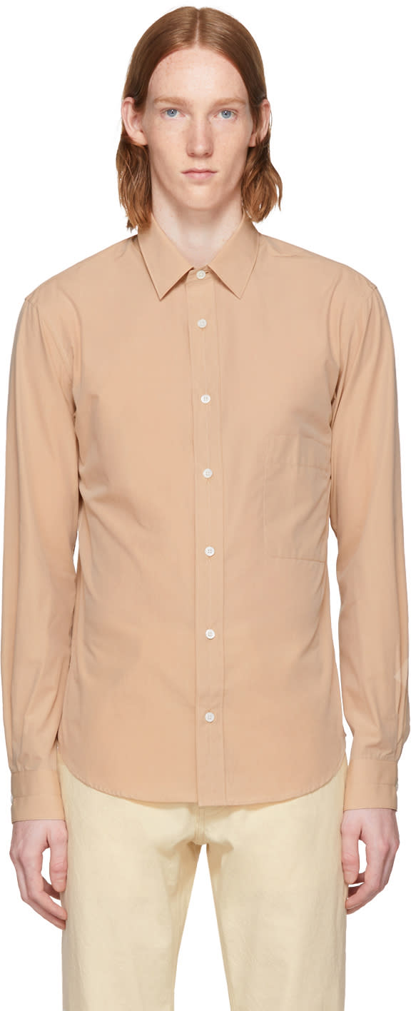 Image of Lemaire Beige Straight Collar Shirt