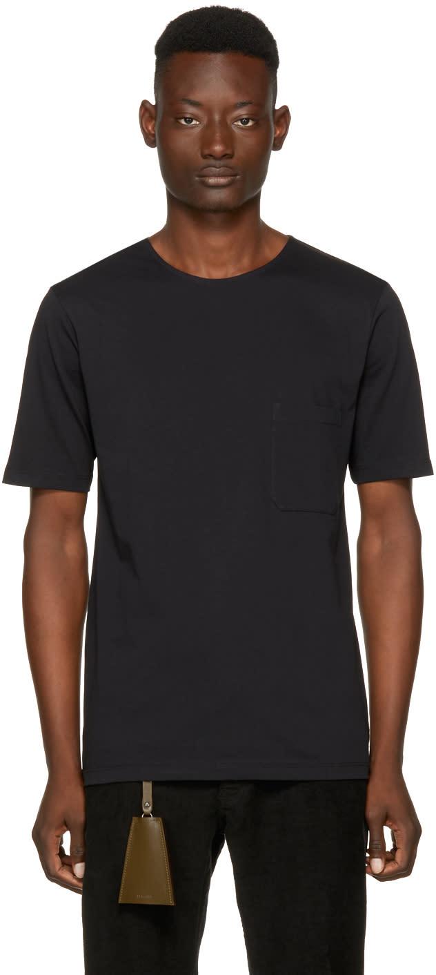 Image of Lemaire Black Crewneck T-shirt