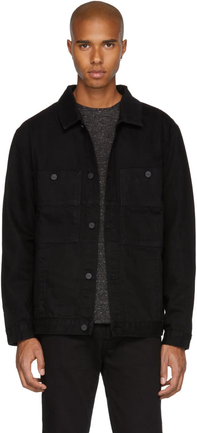Image of études Black Denim Guest Jacket