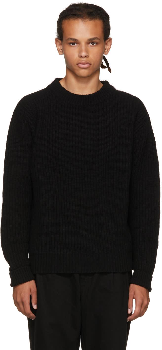Image of études Black Echo Crewneck Sweater
