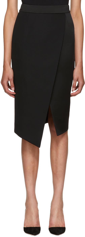 Image of Pallas Black Barbara Wrap Skirt