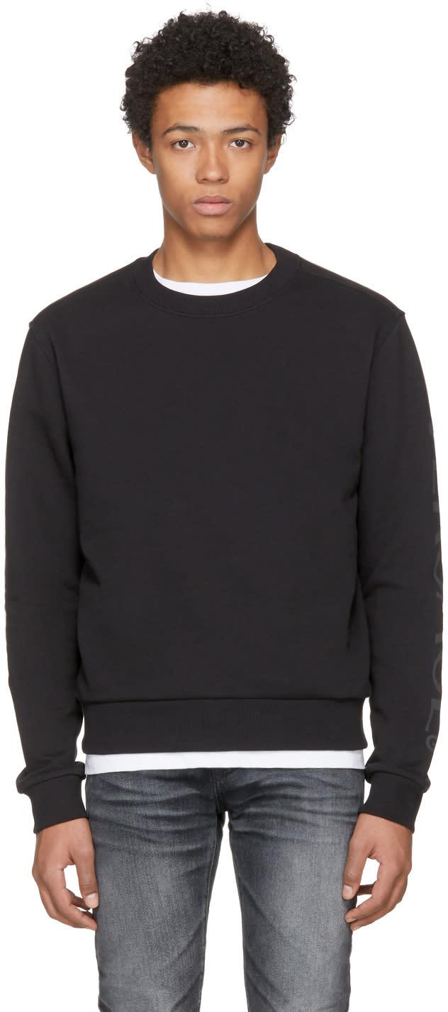 Image of Versace Underwear Black Gym Sweatshirt