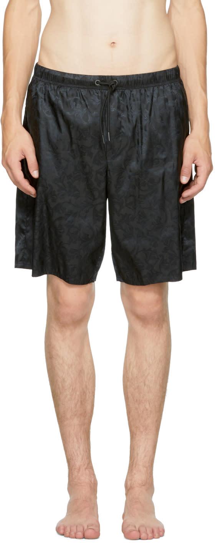 Image of Versace Underwear Black Baroque Swim Shorts