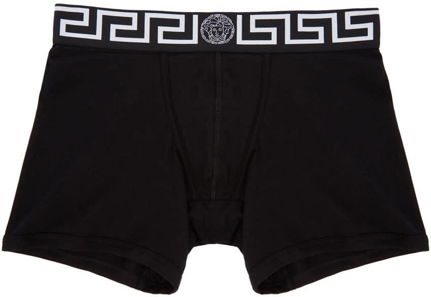 Image of Versace Underwear Black Medusa Boxer Briefs