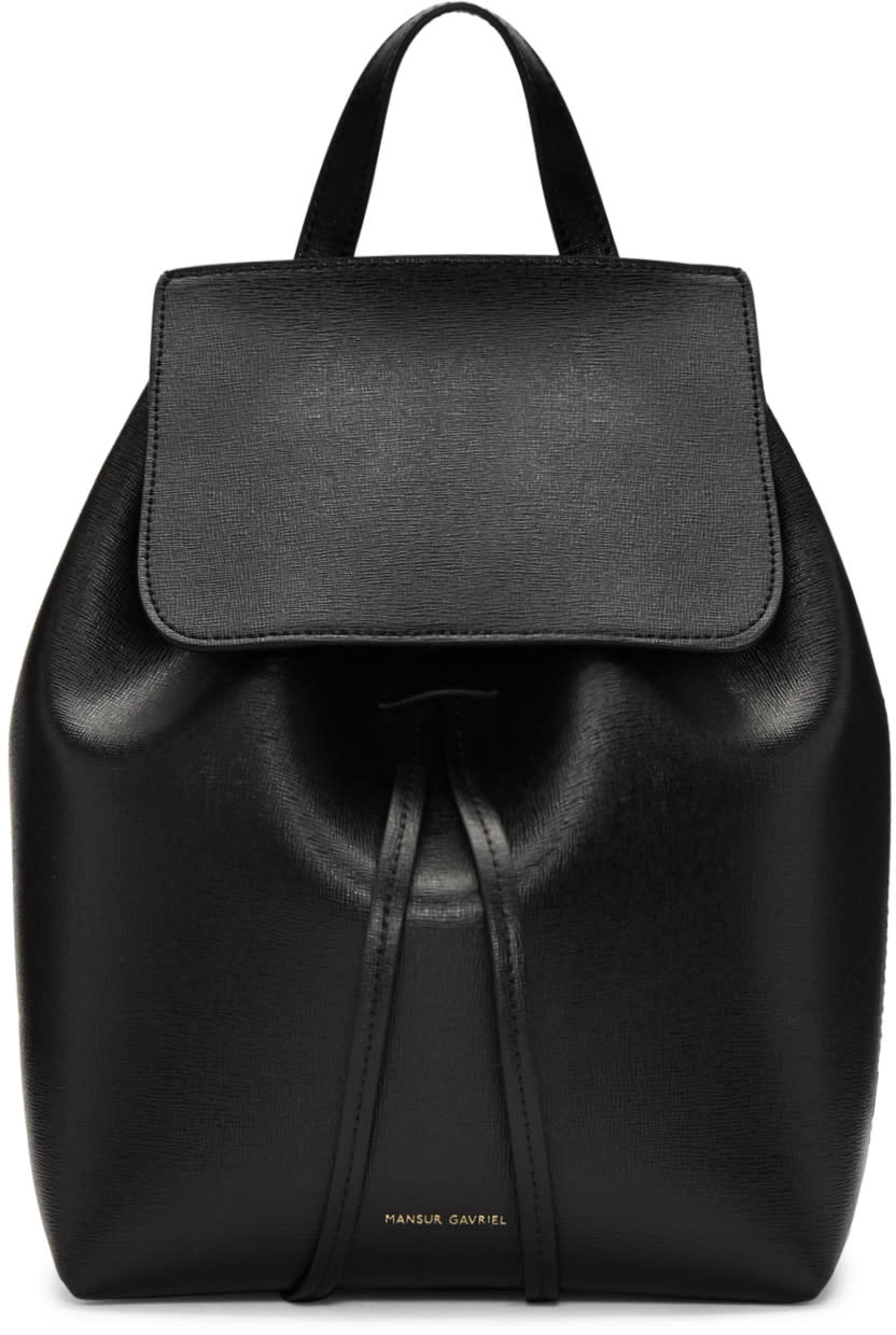 pretty nice 5b2f4 98643 Mansur Gavriel Black Saffiano Mini Backpack