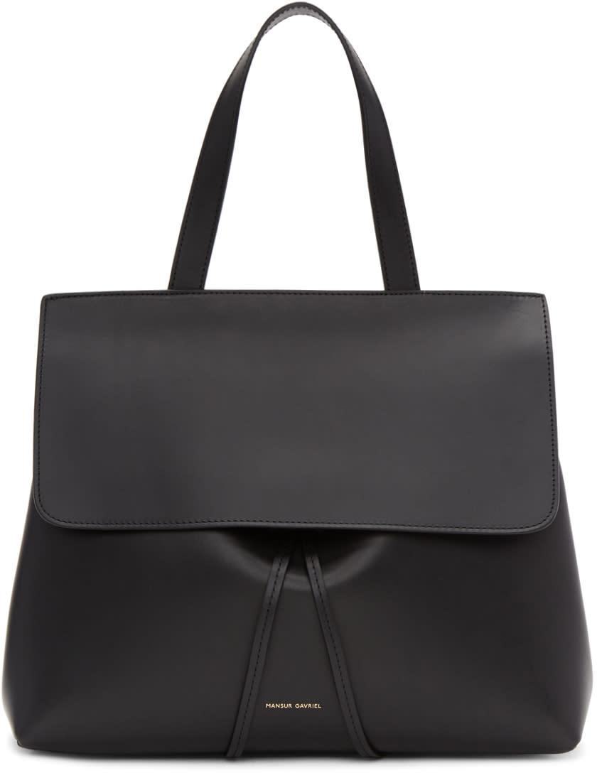 Mansur Gavriel Black Leather Lady Bag
