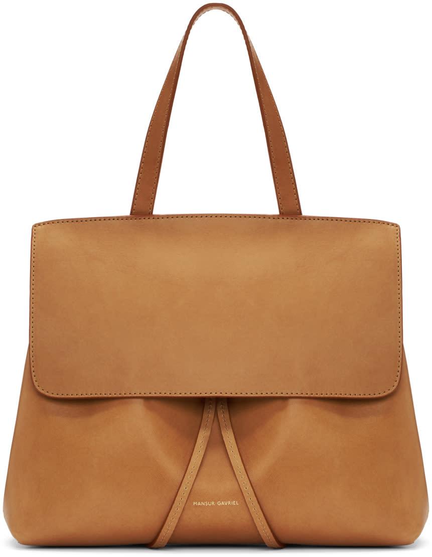 Mansur Gavriel Tan Leather Mini Lady Bag