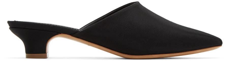 Mansur Gavriel Black Elegant Slides