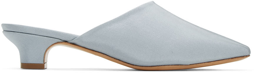 Mansur Gavriel Blue Elegant Slides