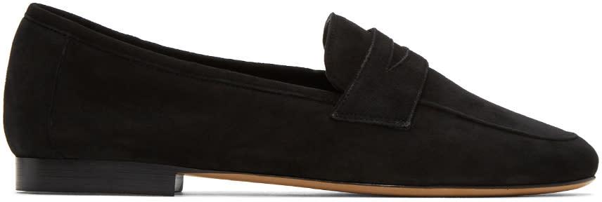 Mansur Gavriel Black Suede Classic Loafers
