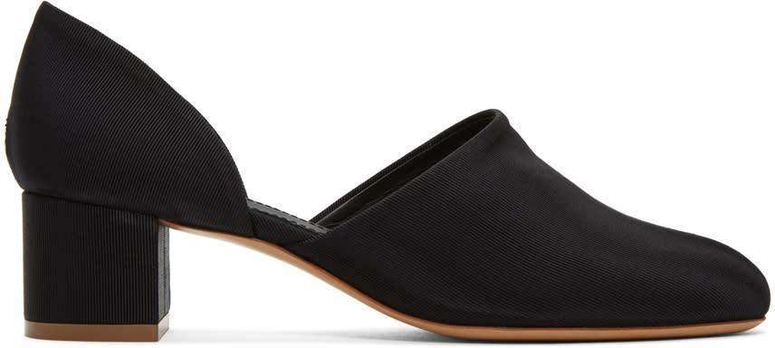 Mansur Gavriel Black Dorsay Heels