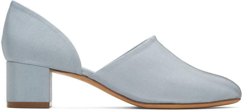 Mansur Gavriel Blue Dorsay Heels