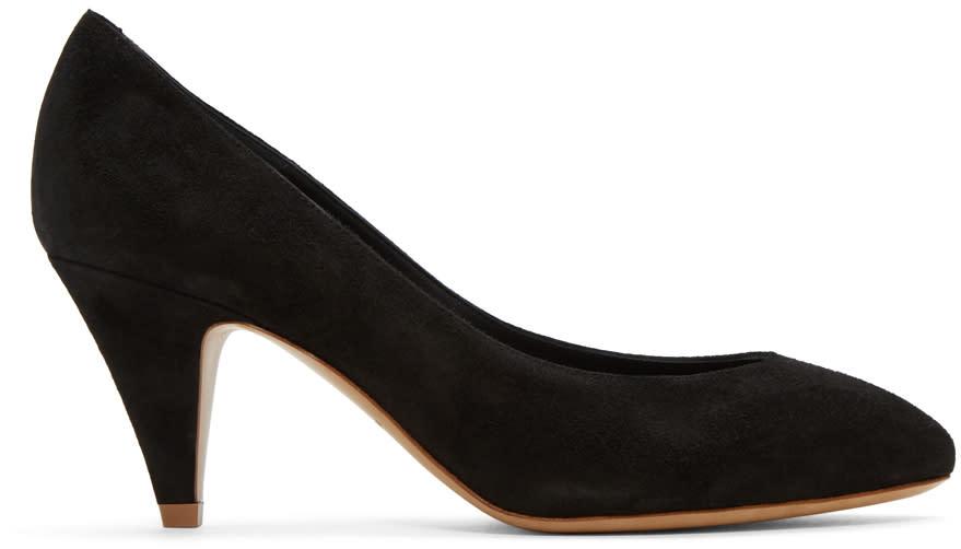 Mansur Gavriel Black Suede Classic Heels