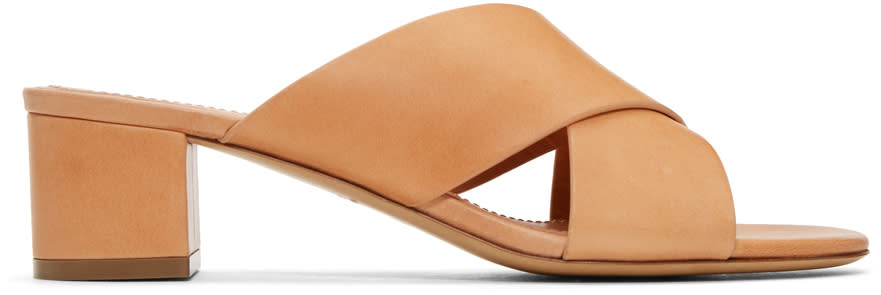 Mansur Gavriel Tan Crossover Sandals