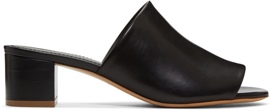 Mansur Gavriel Black Leather Mules