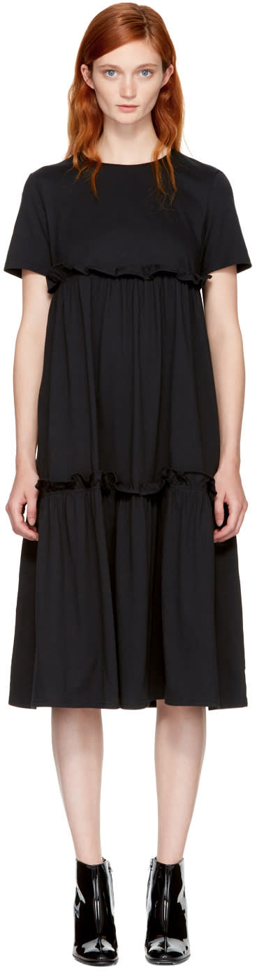 Image of Edit Black Multi Tier Dress