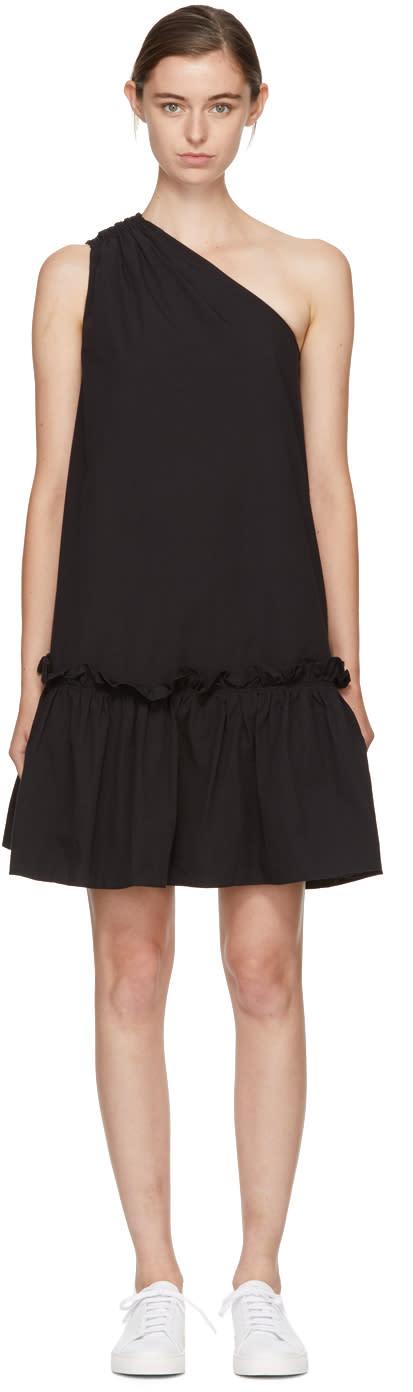 Image of Edit Black Single-shoulder Dress