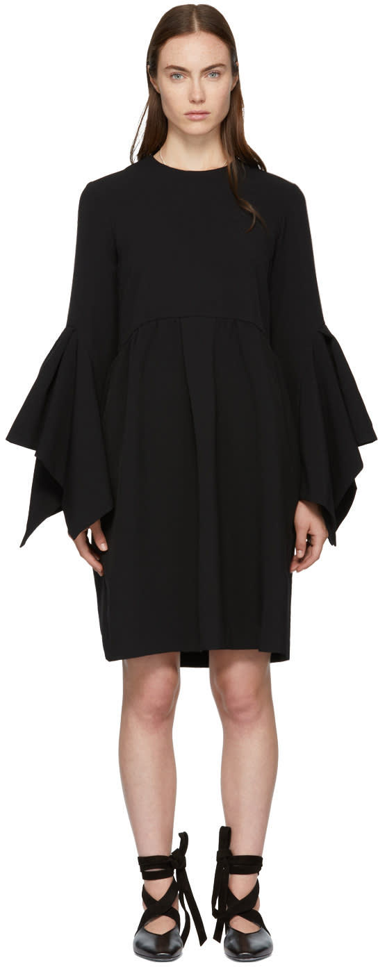Image of Edit Black Box Pleat Easy Dress