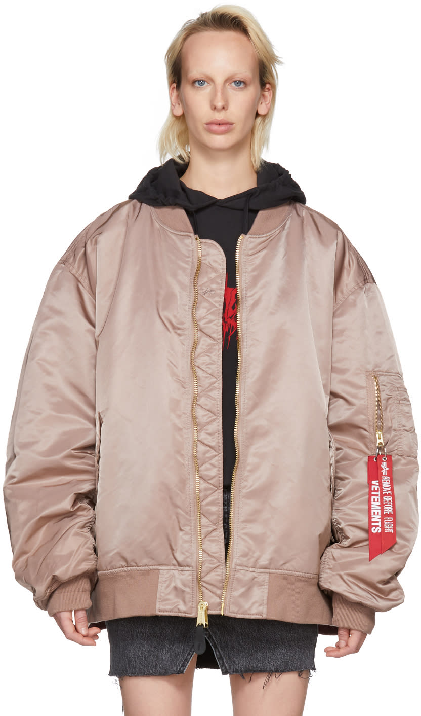 Vetements Reversible Pink Alpha Industries Edition Bomber Jacket