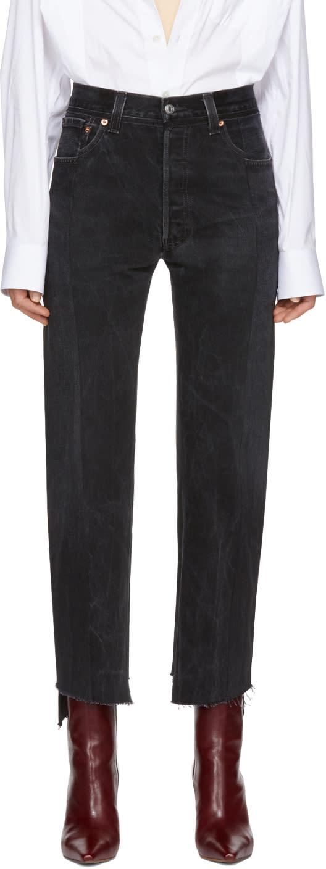 Vetements Black Reworked Push Up Jeans