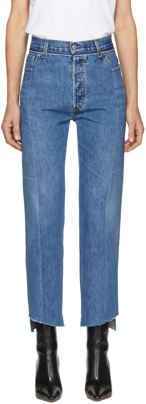 Vetements Blue Reworked Push-up Jeans