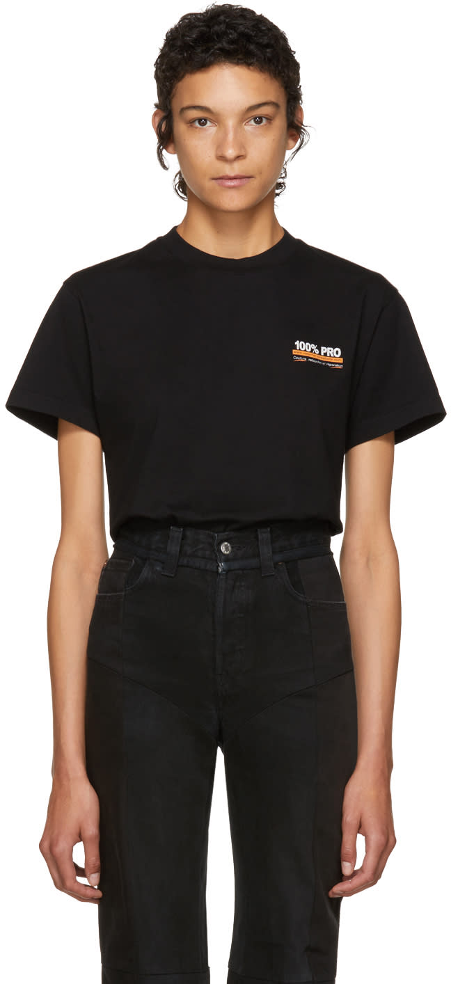 Image of Vetements Black 100% Pro Standard T-shirt
