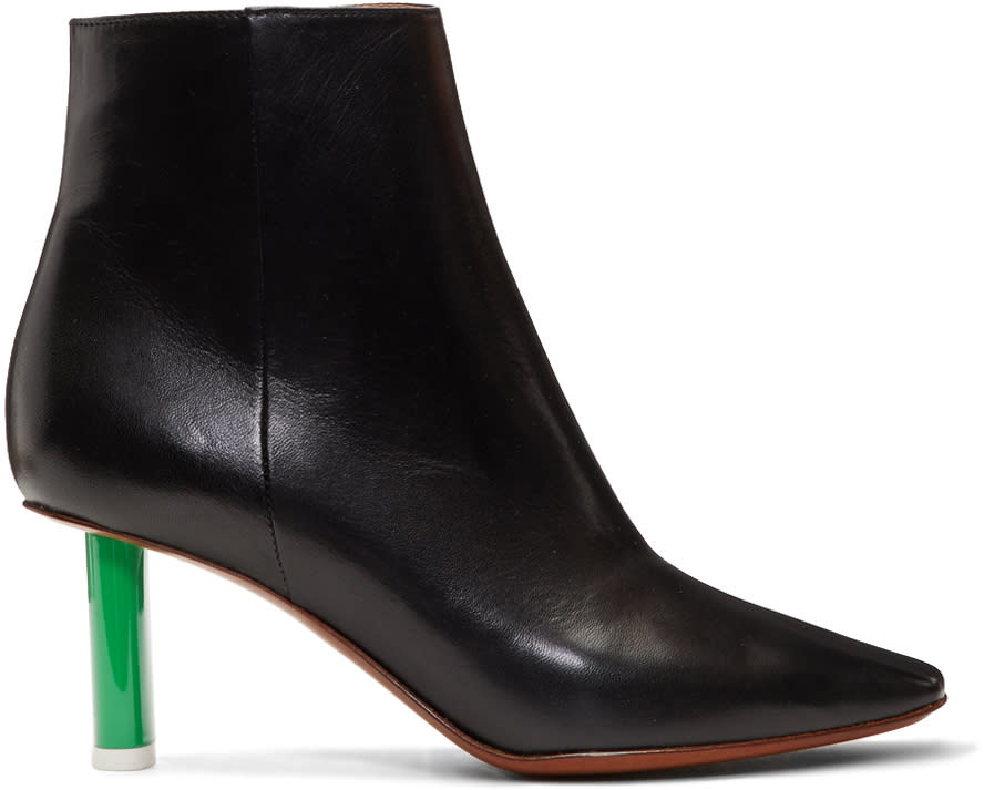 Image of Vetements Black and Green Lighter Boots