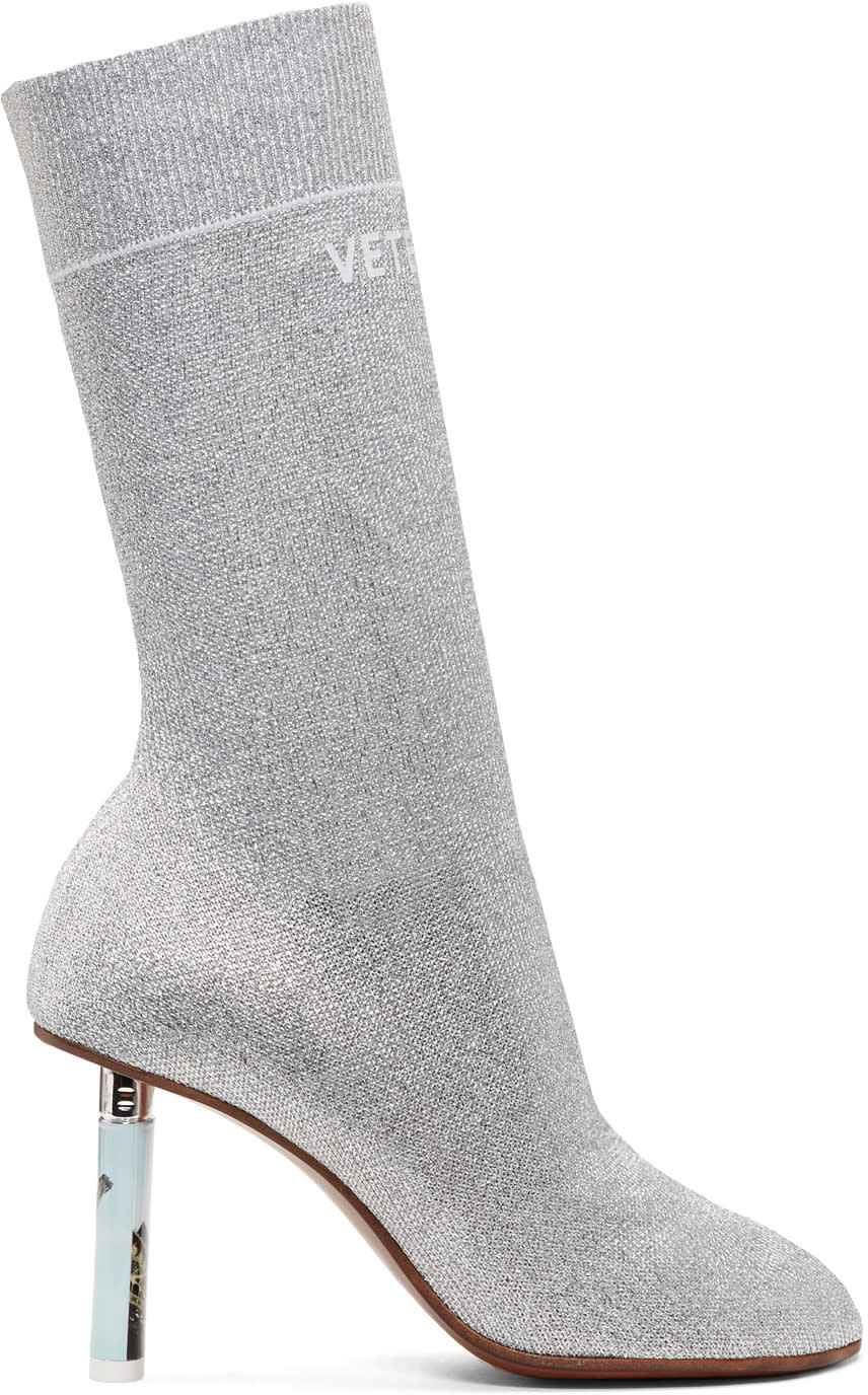 Vetements-Ssense-Exclusive-Silver-Lurex-Lighter-Sock-Boots