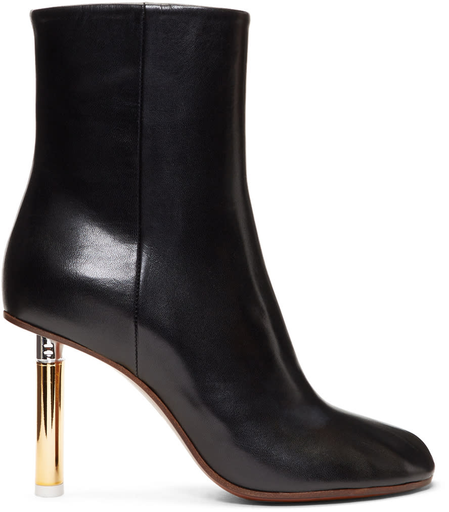 Image of Vetements Black and Gold Lighter Heel Boots