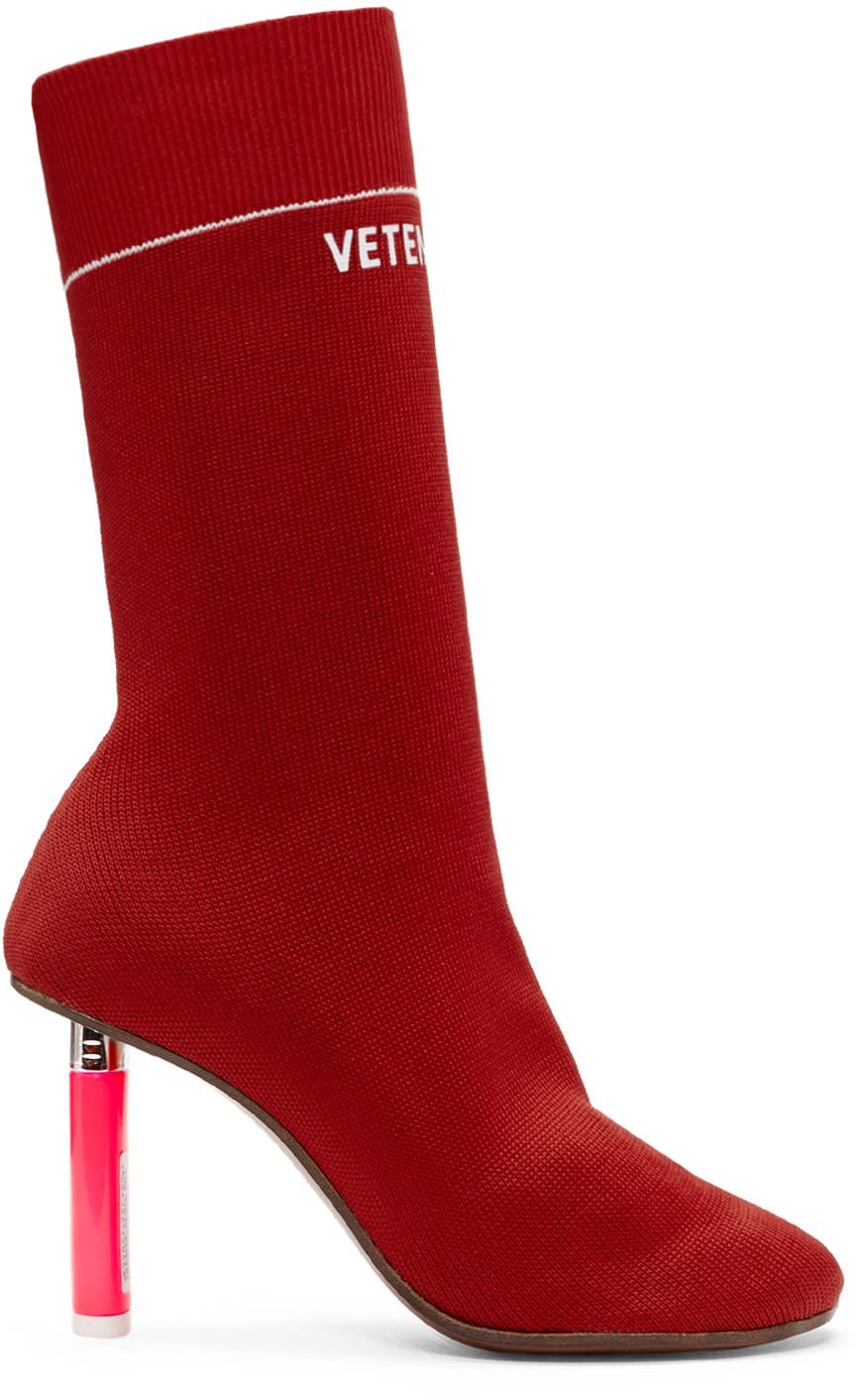 Vetements-Red Lighter Sock Boots