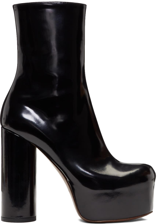 Vetements-Black Leather Platform Boots