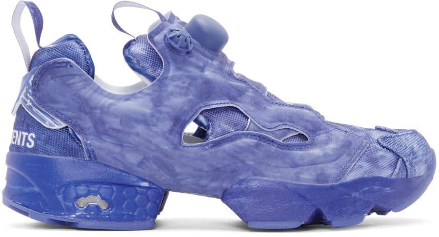 0e9727d4a53 Vetements Blue Reebok Edition Instapump Fury Sneakers