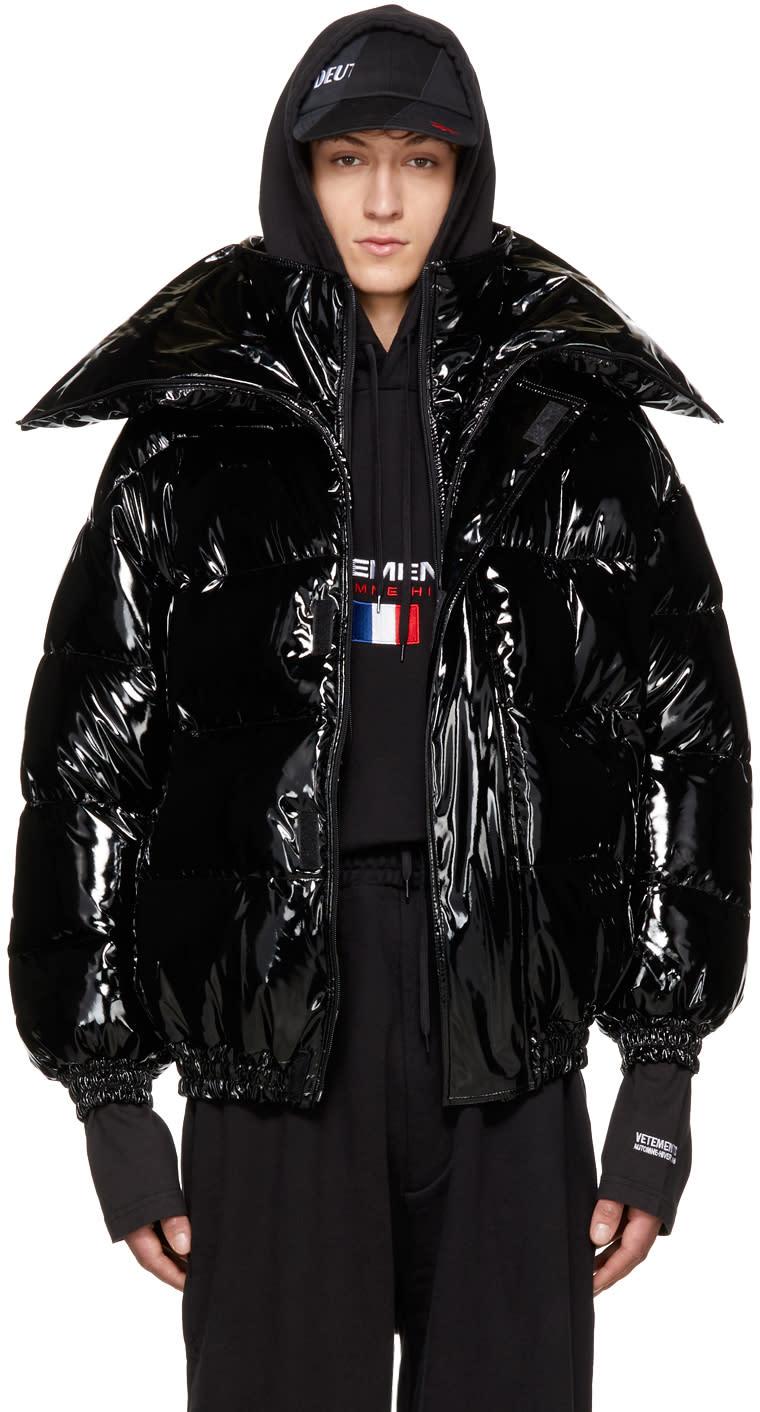 Image of Vetements Black Miss Webcam Puffer Jacket