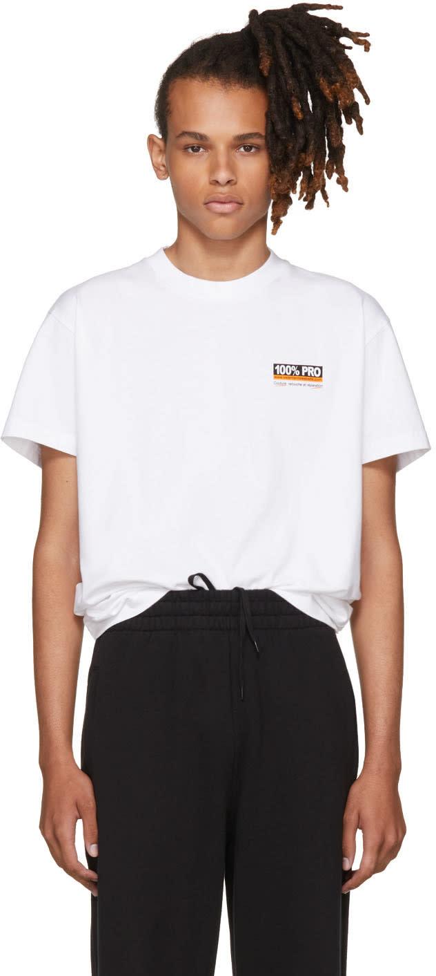 Vetements ホワイト 100% Pro スタンダード T シャツ
