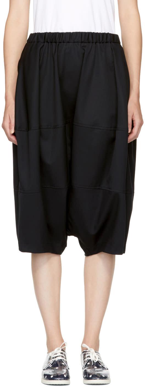 Image of Comme Des Garçons Girl Black Wool Oversized Shorts